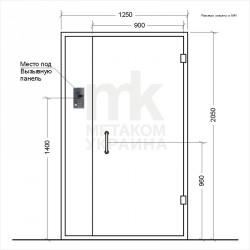Схема стандартной двери в поезд дома с местом под Домофон