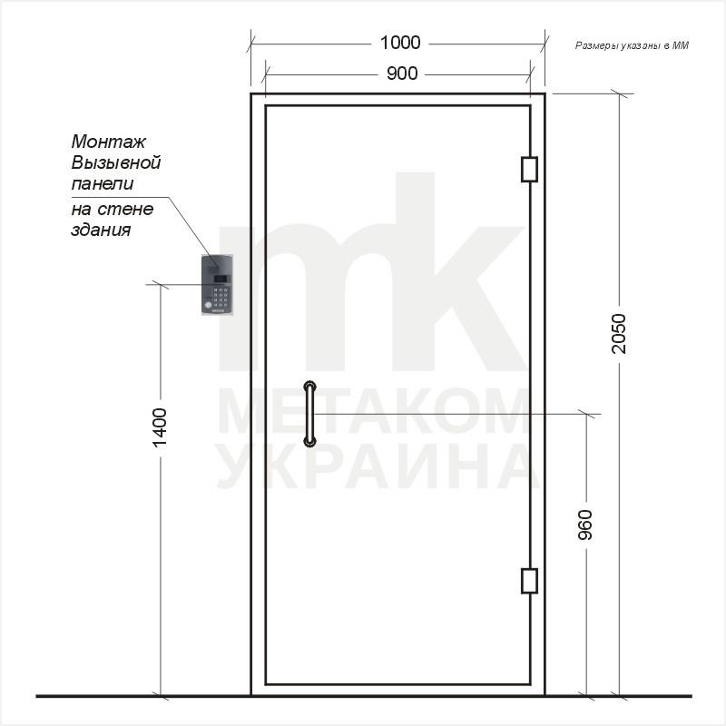 металлические двери с домофоном установка все фирмы