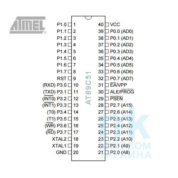 схема для подключения AT89C51 запчати для домофона МК10