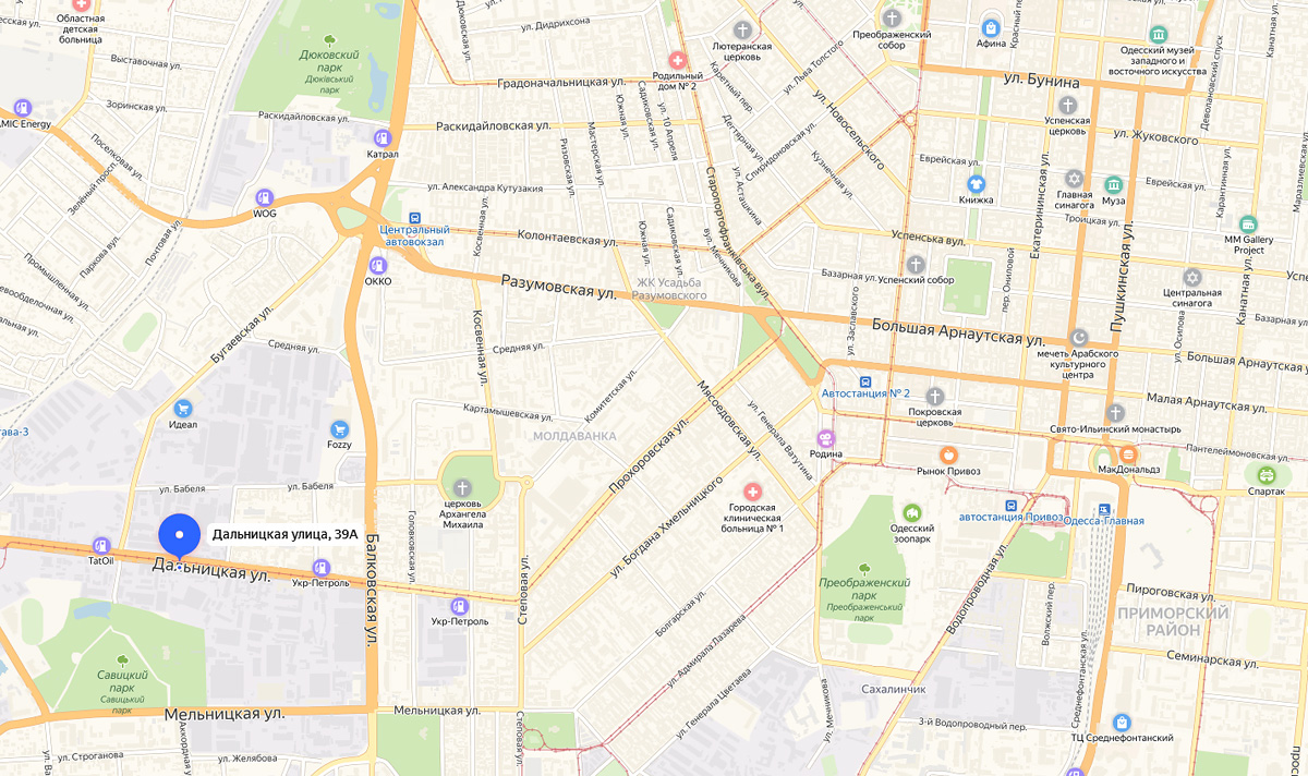 Домофонная компания Метаком на карте Одессы